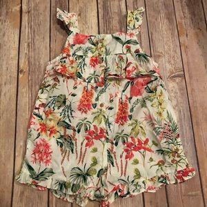 Zara floral romper